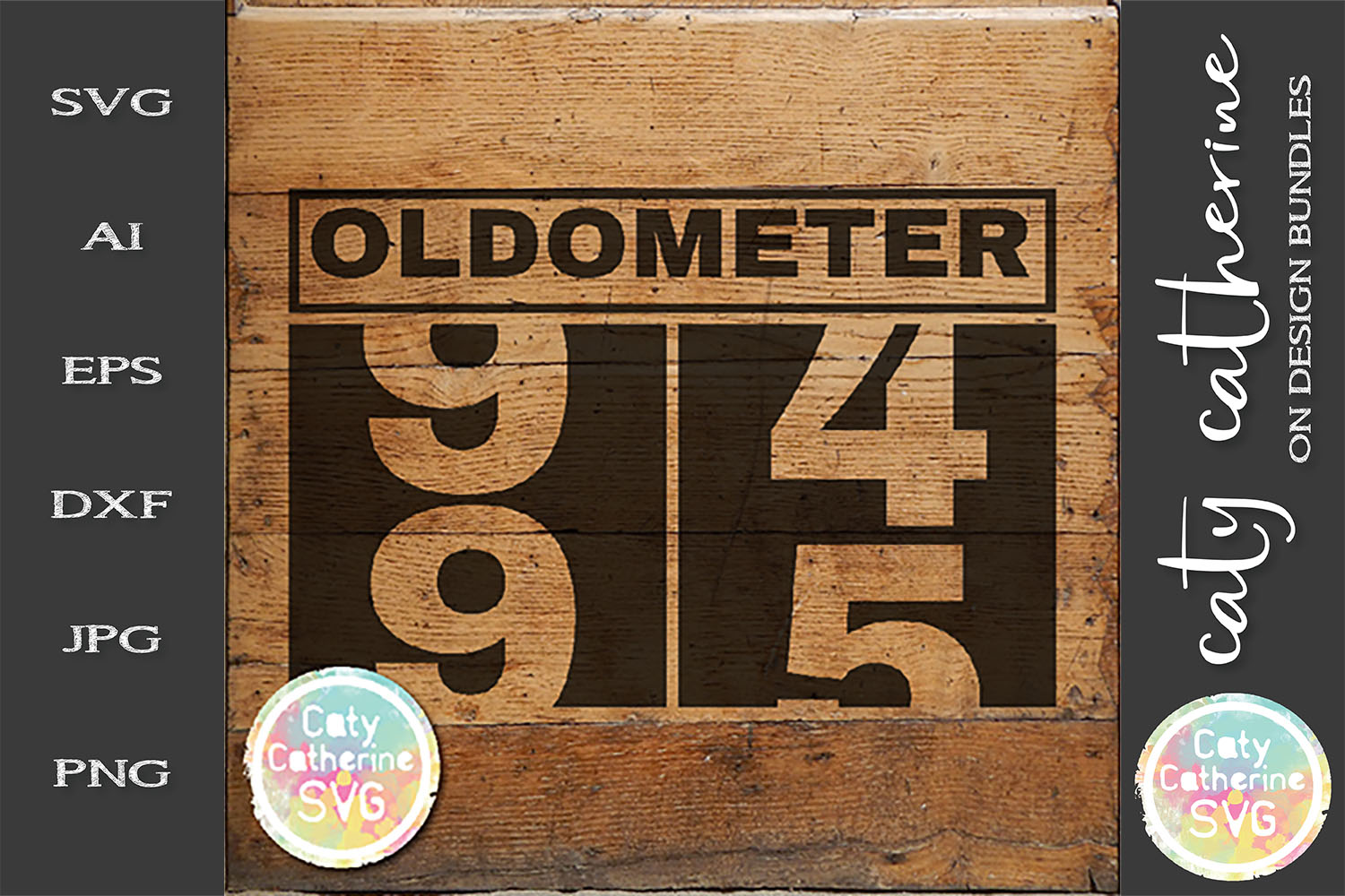 95 Ninety Five Ninety Fifth Birthday Oldometer SVG Cut File example image 1