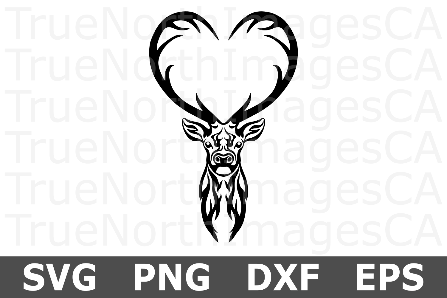 Tribal Deer - An Animal SVG Cut File example image 1