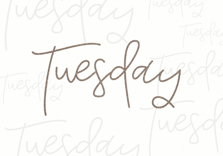 Tuesday - Handwritten Script Font example image 7