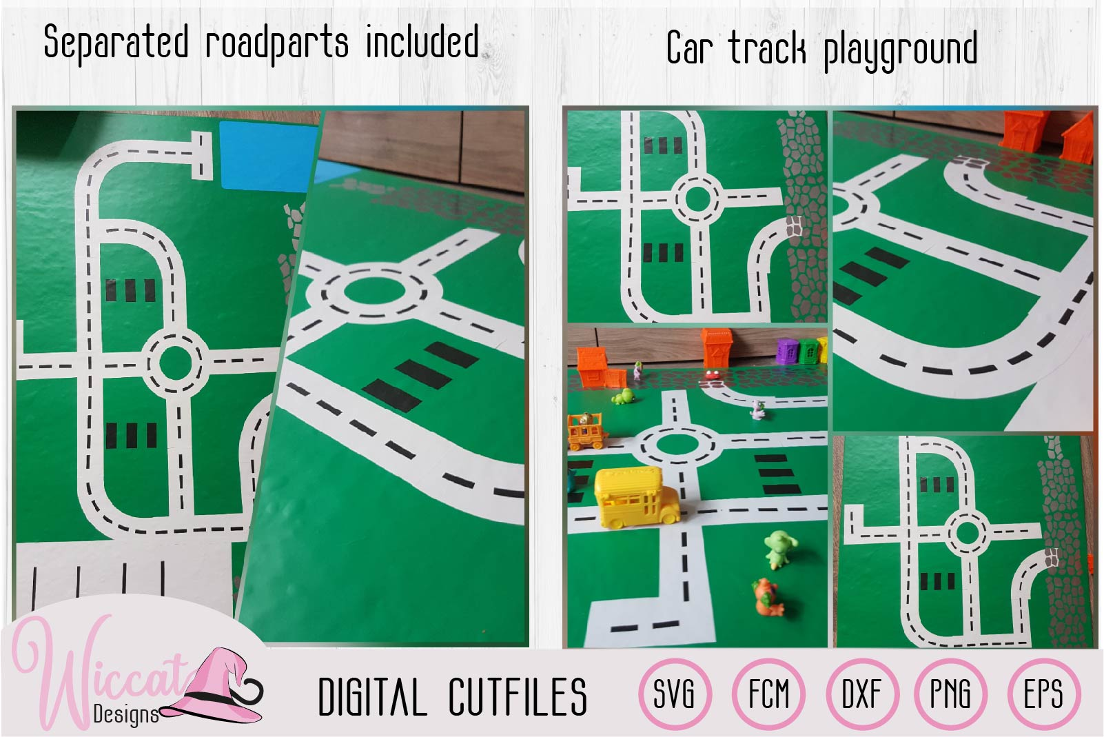 Car track, Road map, Car playground, boys design, road parts example image 3