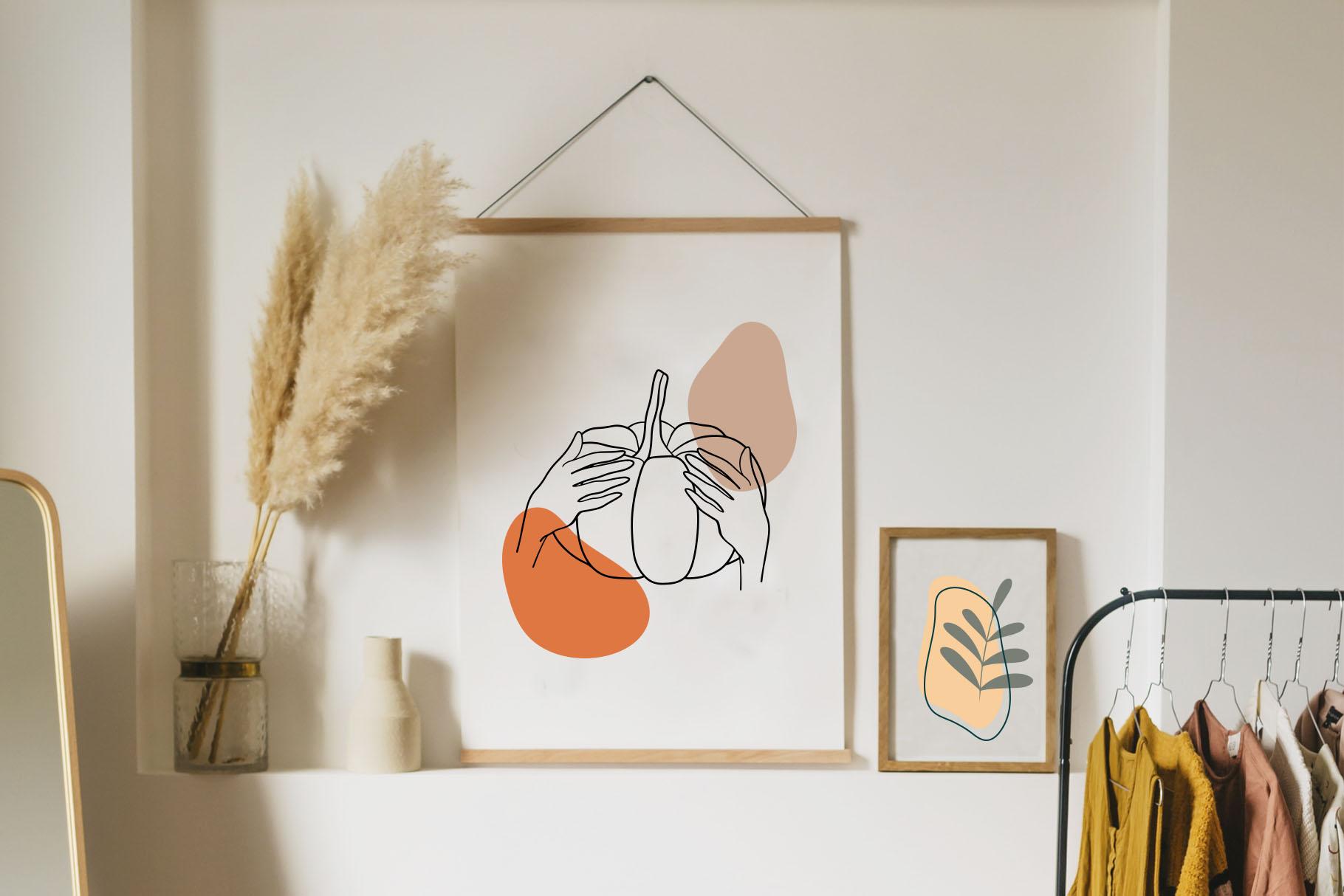 Autumn Vibes. Line art example image 2