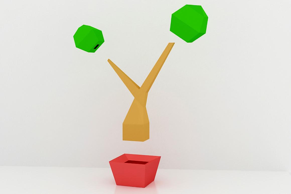 DIY Bonsai Tree - 3d papercraft example image 3