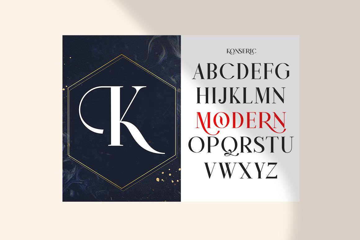 Konseric   Luxury Serif Font example image 17