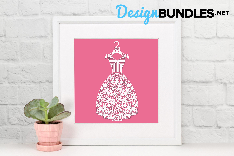 Dress paper cut design example image 3