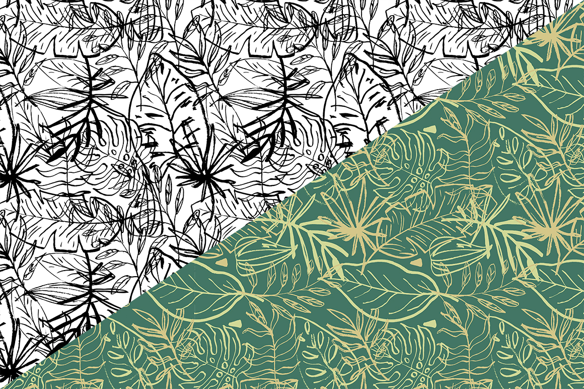 Tropical leaves set example image 7