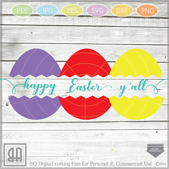 Easter Eggs monogram SVG - Easter bundle mini SVG example image 5