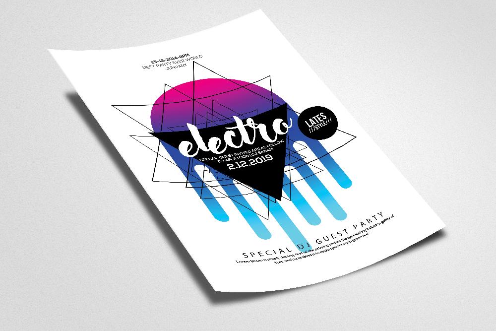 Electro Futuristic Flyer Template example image 2