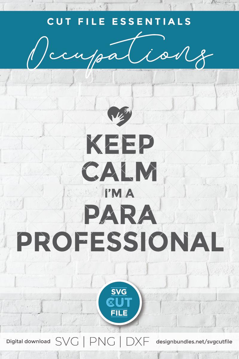 Paraprofessional svg, para svg, keep calm svg, para coworker example image 2