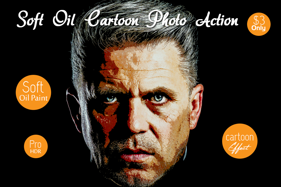 Soft Oil Cartoon Photo Action example image 2