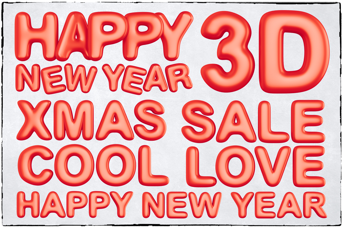 New Year 3D PNG Items Pack example image 19