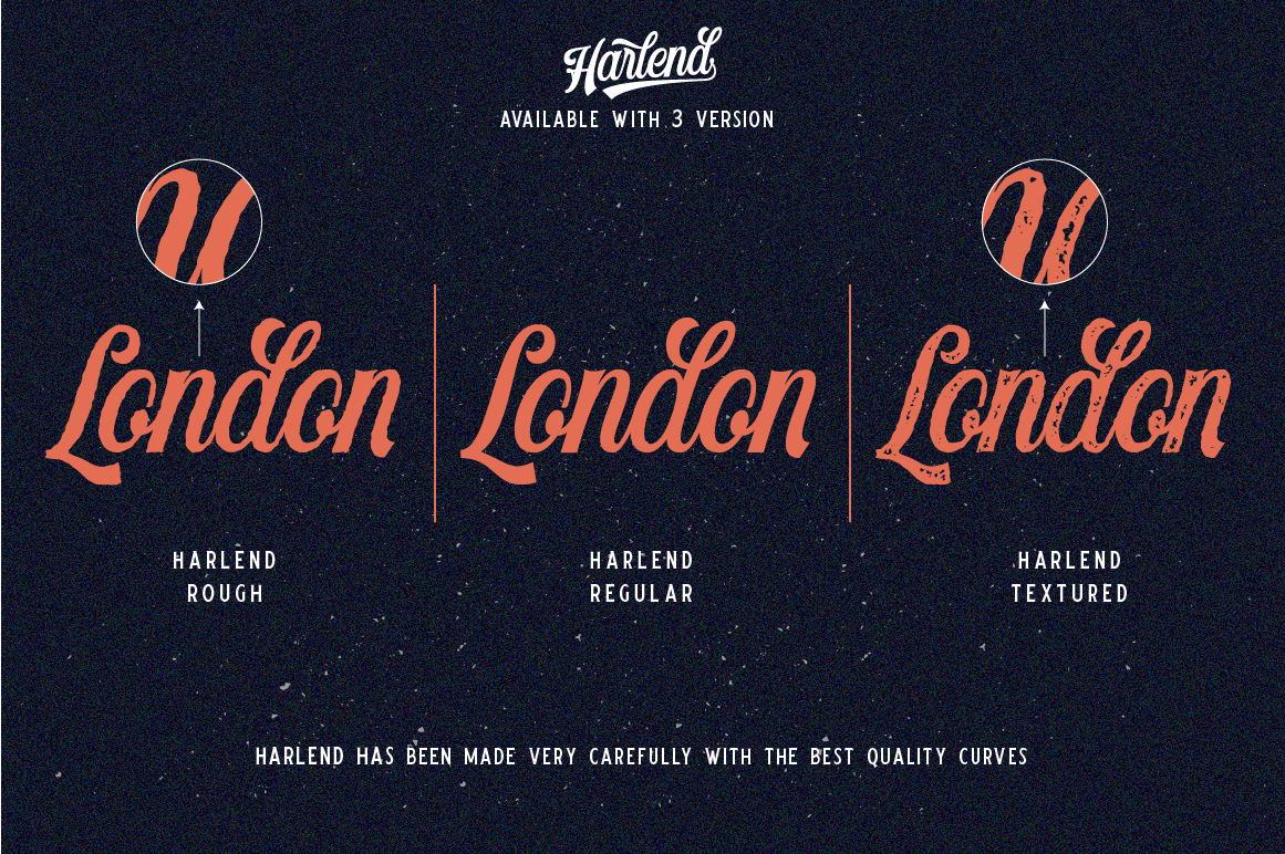 Harlend 6 fonts with extras intro example image 3