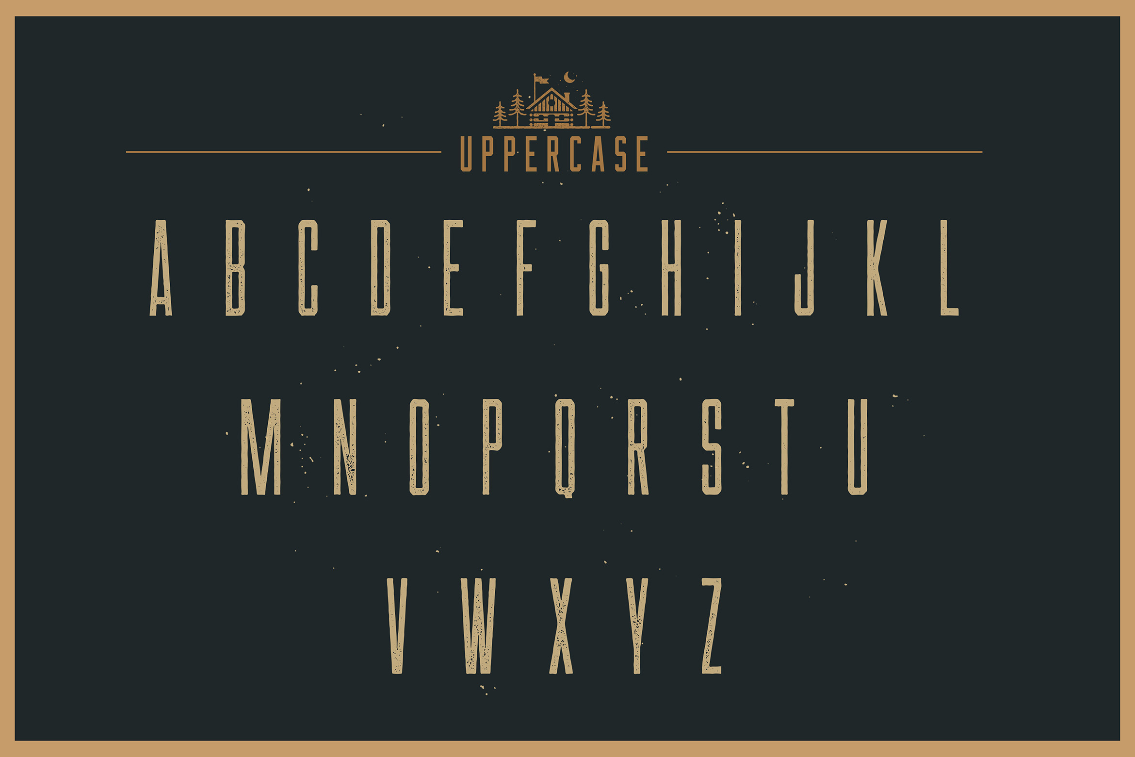 Las Valles Ultra Textured Condensed Typeface 4 Fonts example image 15