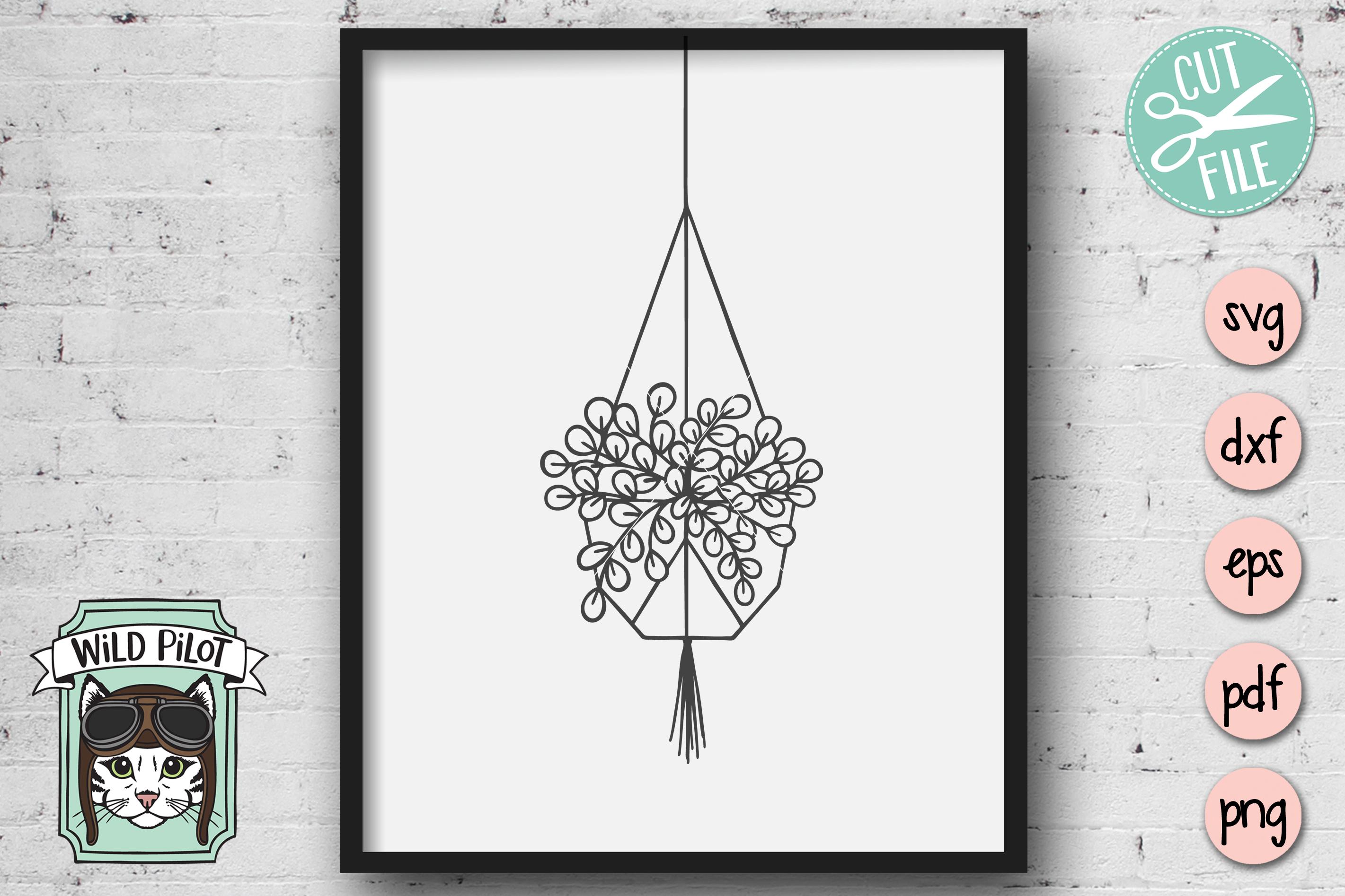 Hanging Plants SVG files, Plants cut files, Planters, Garden example image 4