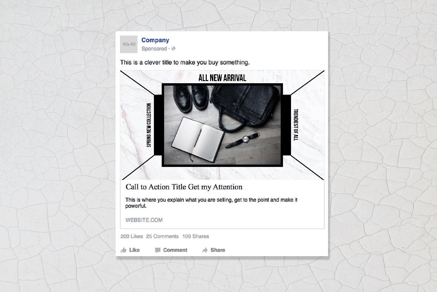 Geometric Social Media Post Template example image 3