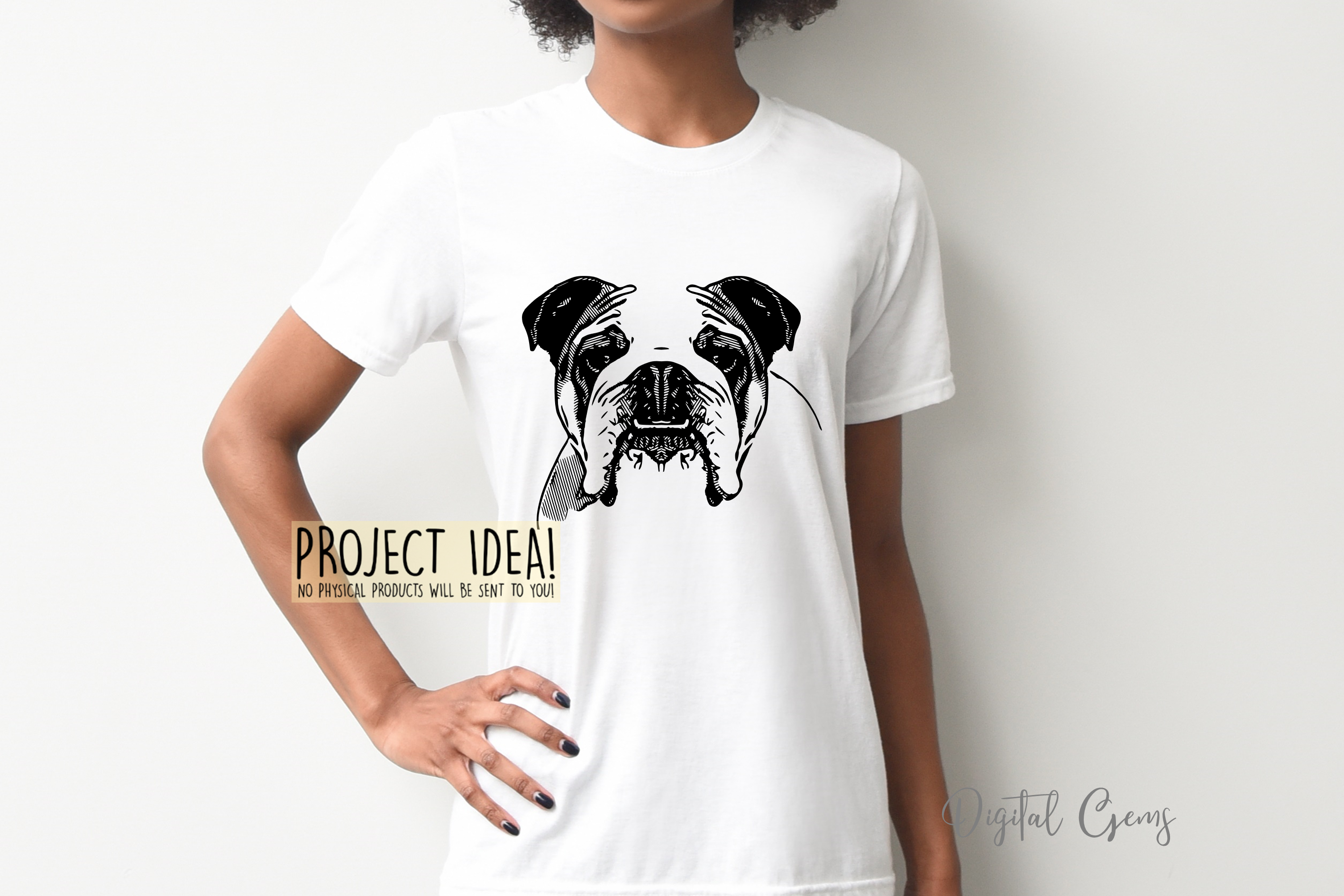 English Bull Dog SVG / EPS / DXF / PNG Files example image 3