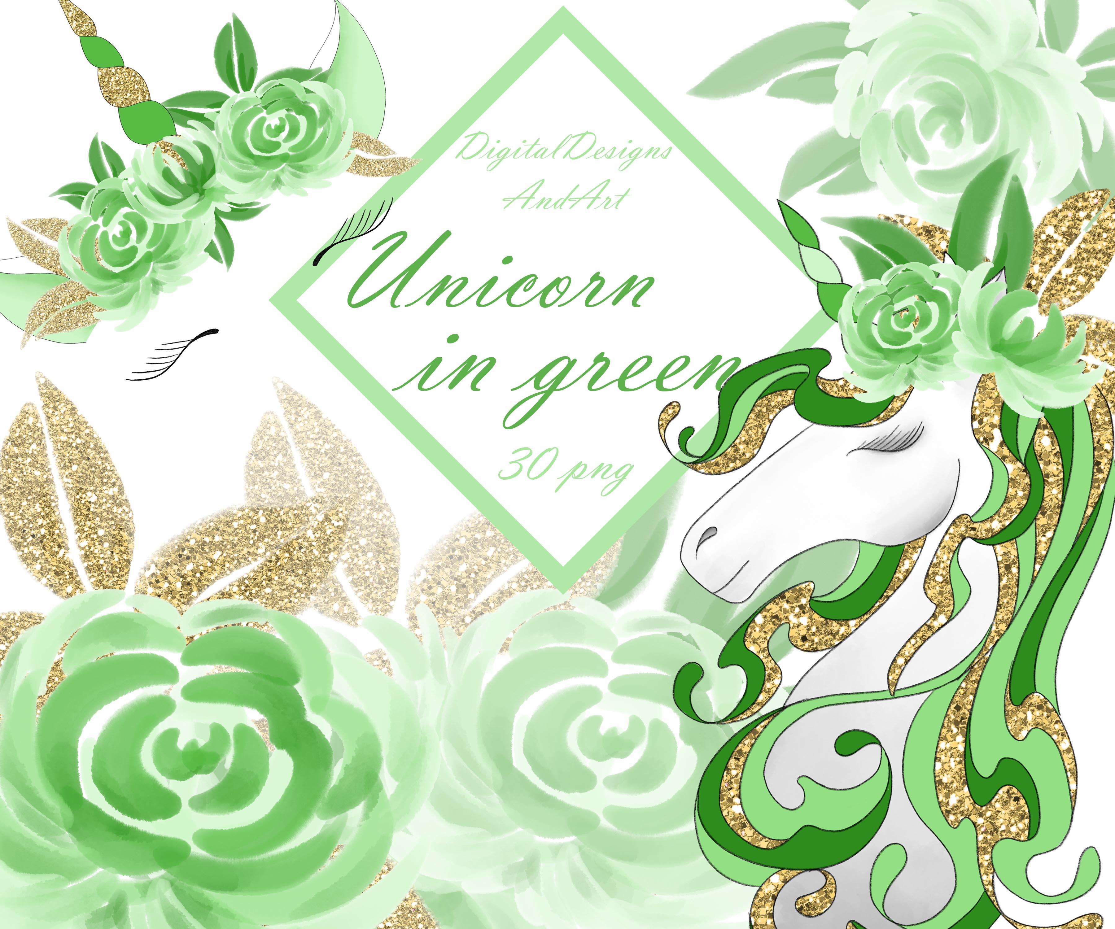 Unicorn in green example image 1