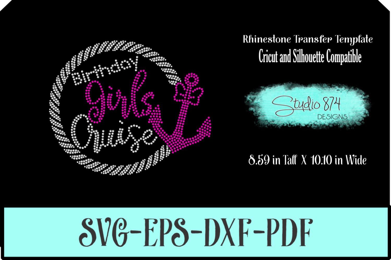 Birthday Girls Cruise - Rhinestone SVG Template example image 1
