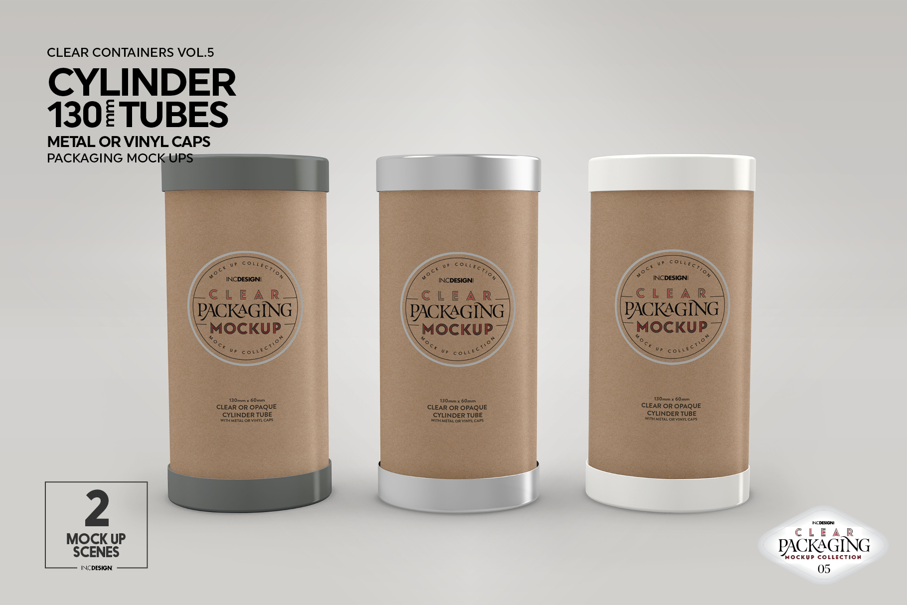 130mm Cylinder Tube Packaging Mockup example image 5
