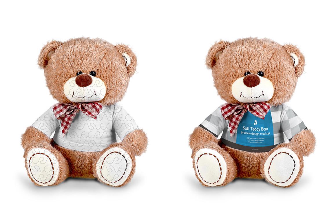 Teddy Bear Dress Design Mockup - 2 Views example image 1