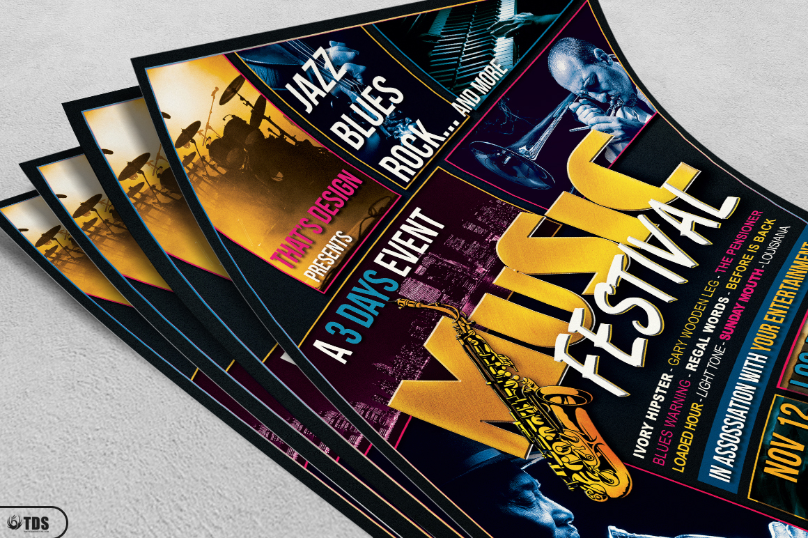 Music Festival Flyer Template V3 example image 3