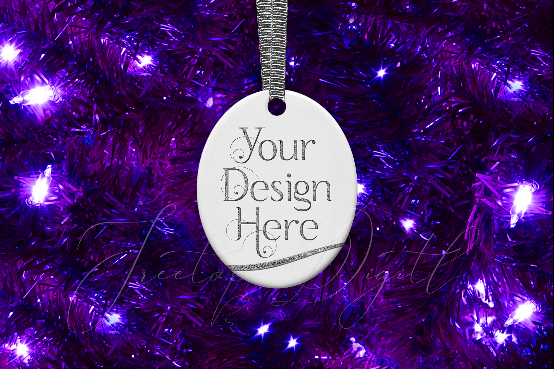 Oval Christmas Ornament Mockup, Sublimation Mock-Up, PSD example image 9
