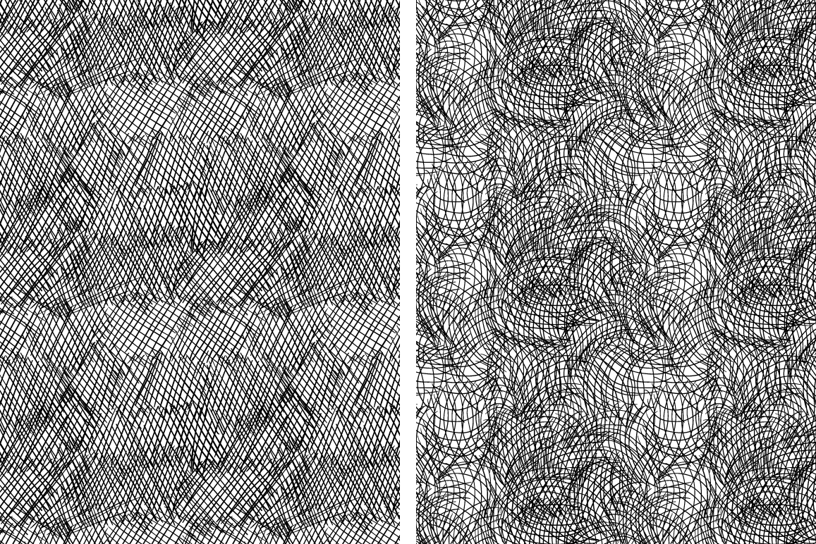 Set of 8 ink strokes effect patterns example image 2