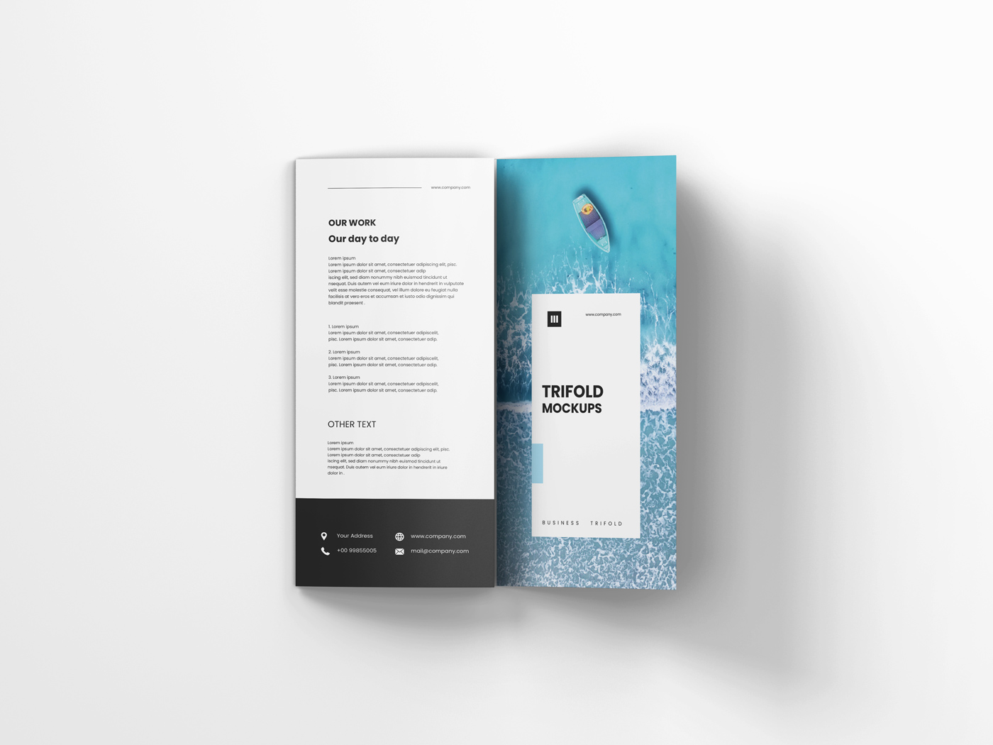 A4 Trifold Mockups V3 example image 6