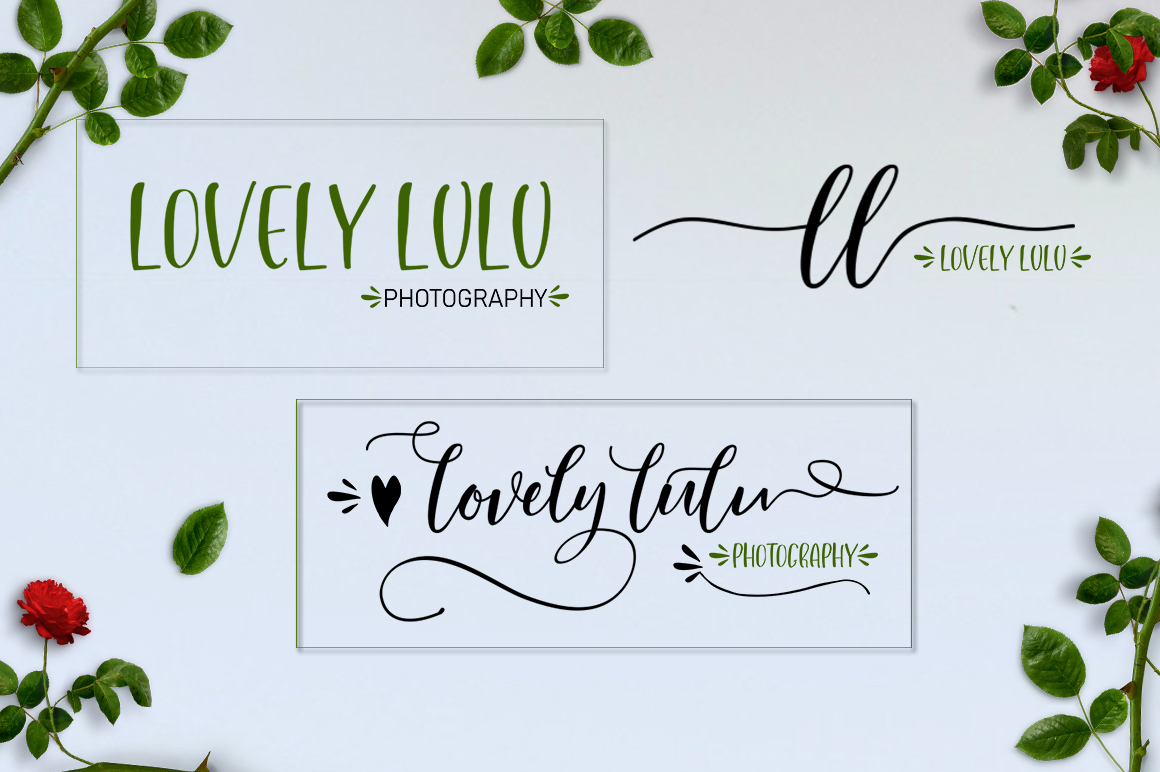 Lovely Buttering Font Duo & Extras example image 5