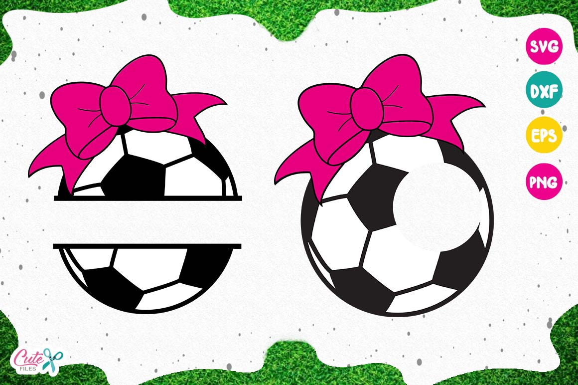 Soccer monogram, sport cut files for craftters example image 1