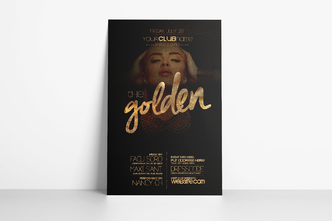 The Golden Flyer Template example image 2