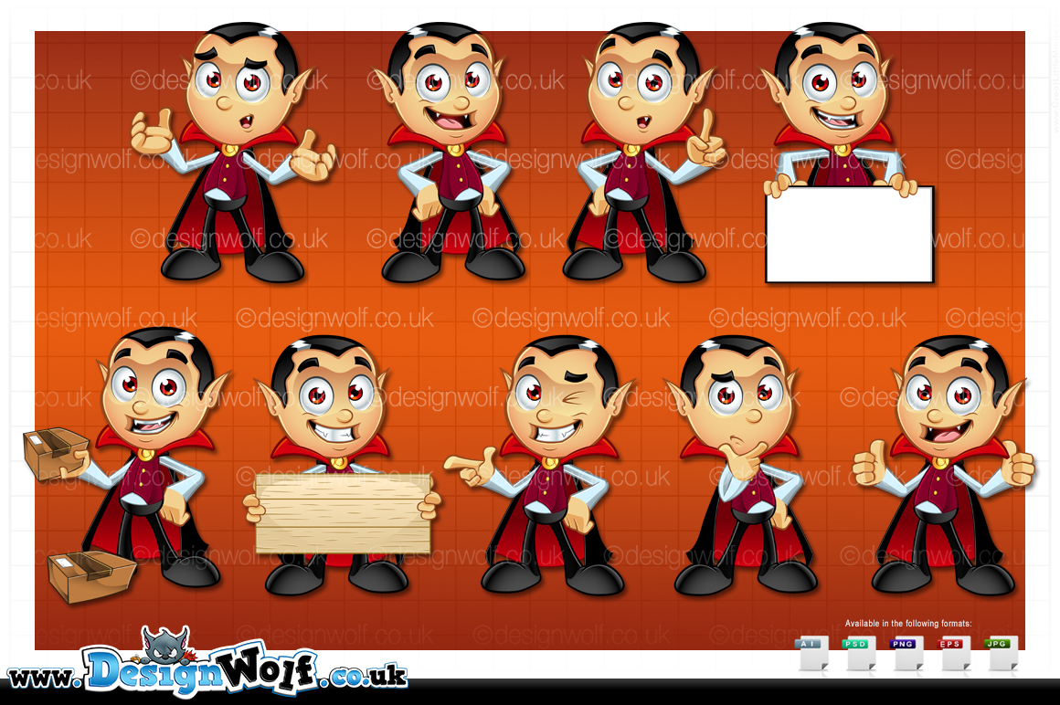 Dracula Character - In 9 Poses example image 3