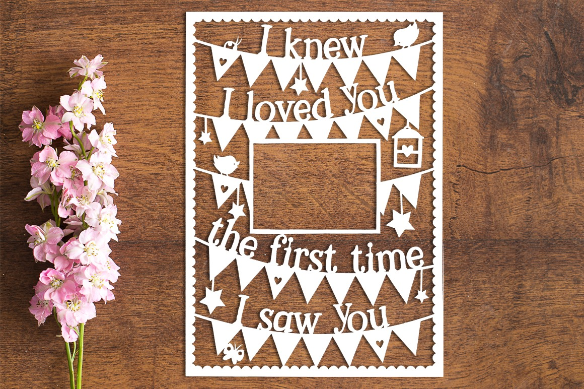 I/We Knew I/We Loved You - Set of 2 Paper Cutting Templates example image 2