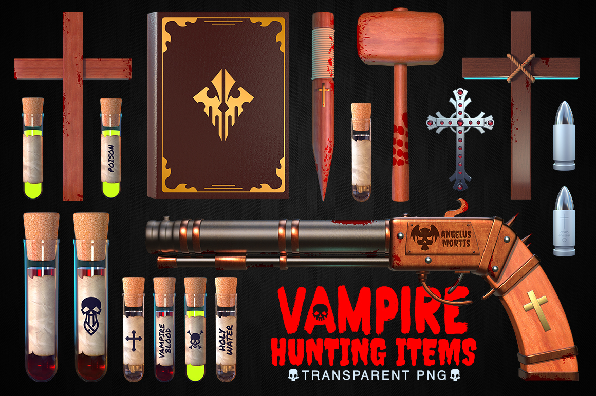 Vampire Hunting Items Collection example image 1