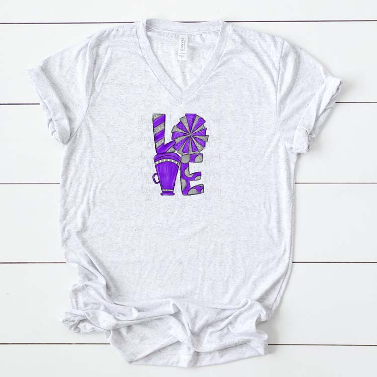 Cheer Love Purple and Gray example image 2
