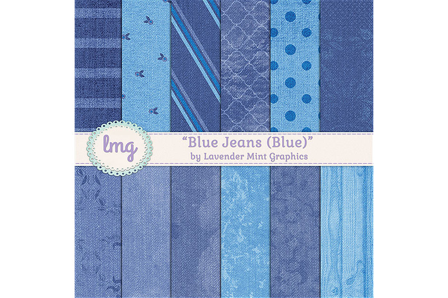 Blue Jeans Digital Papers example image 1