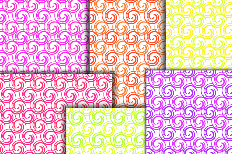 Curls digital paper. Abstract paper. Whirls seamless pattern example image 2