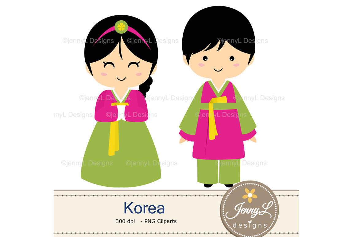 Korea Digital Papers and Korean Clipart example image 5