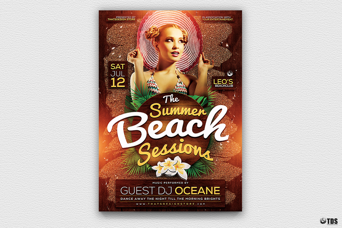 Summer Beach Flyer Template V3 example image 3