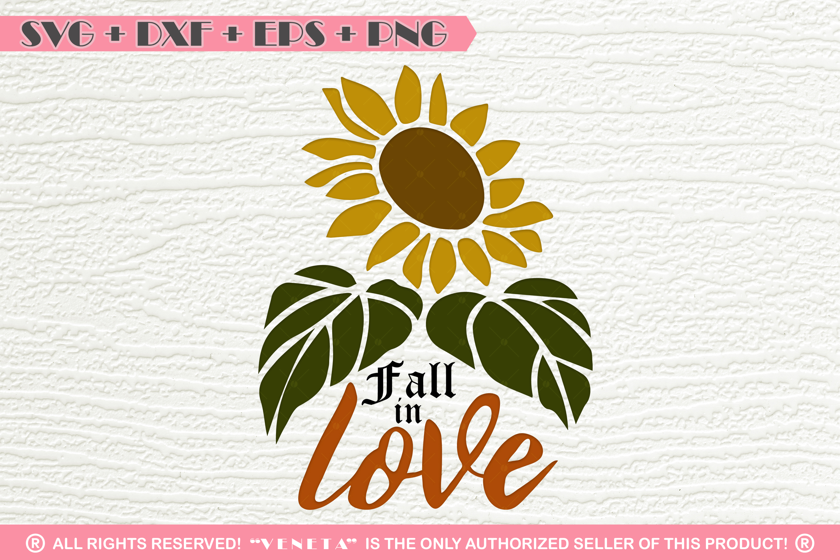 fall in love sunflower quotes svg dxf png eps cutting
