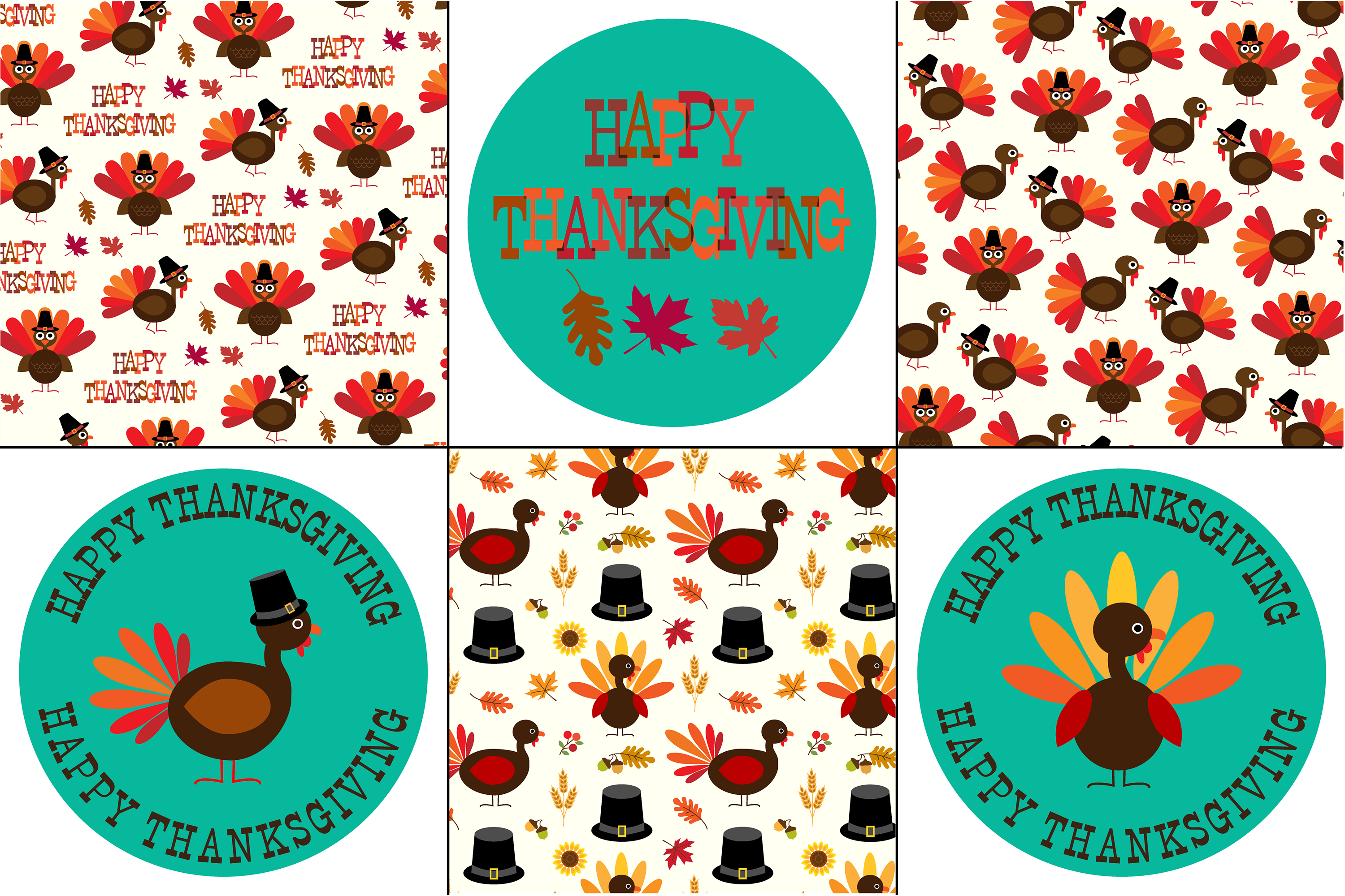 Thanksgiving Patterns & Graphics example image 2