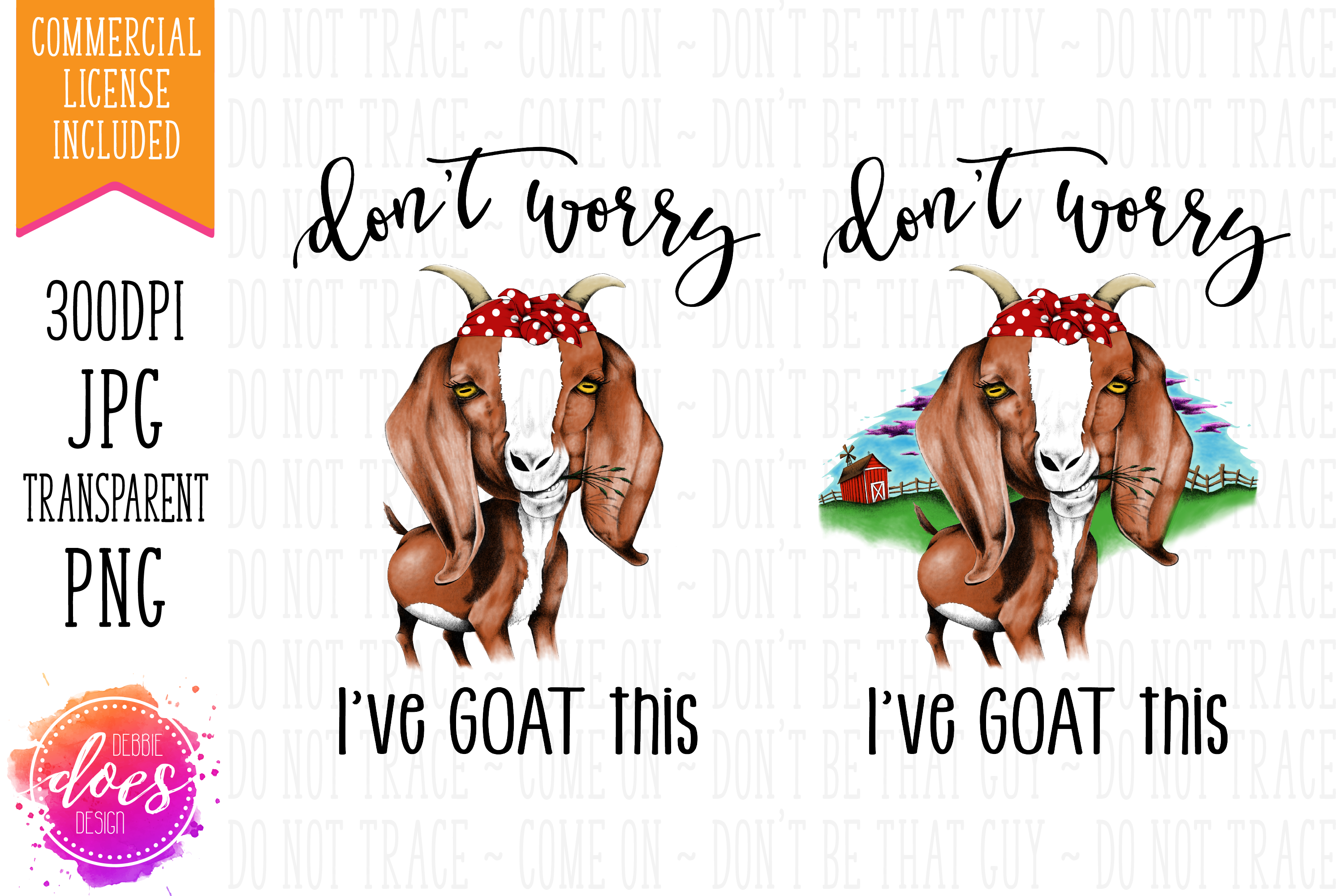 Don't Worry I've GOAT This - Hand Drawn Printable Design example image 3