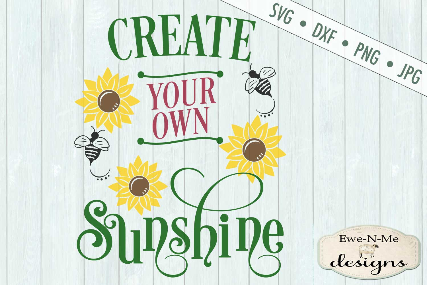 Create Your Own Sunshine Sunflower SVG DXF File example image 2