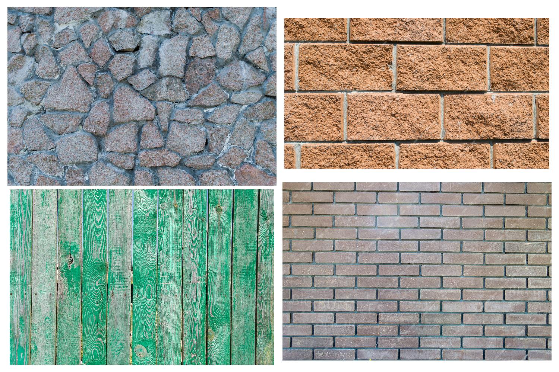 Bricks, fence and greenery example image 3
