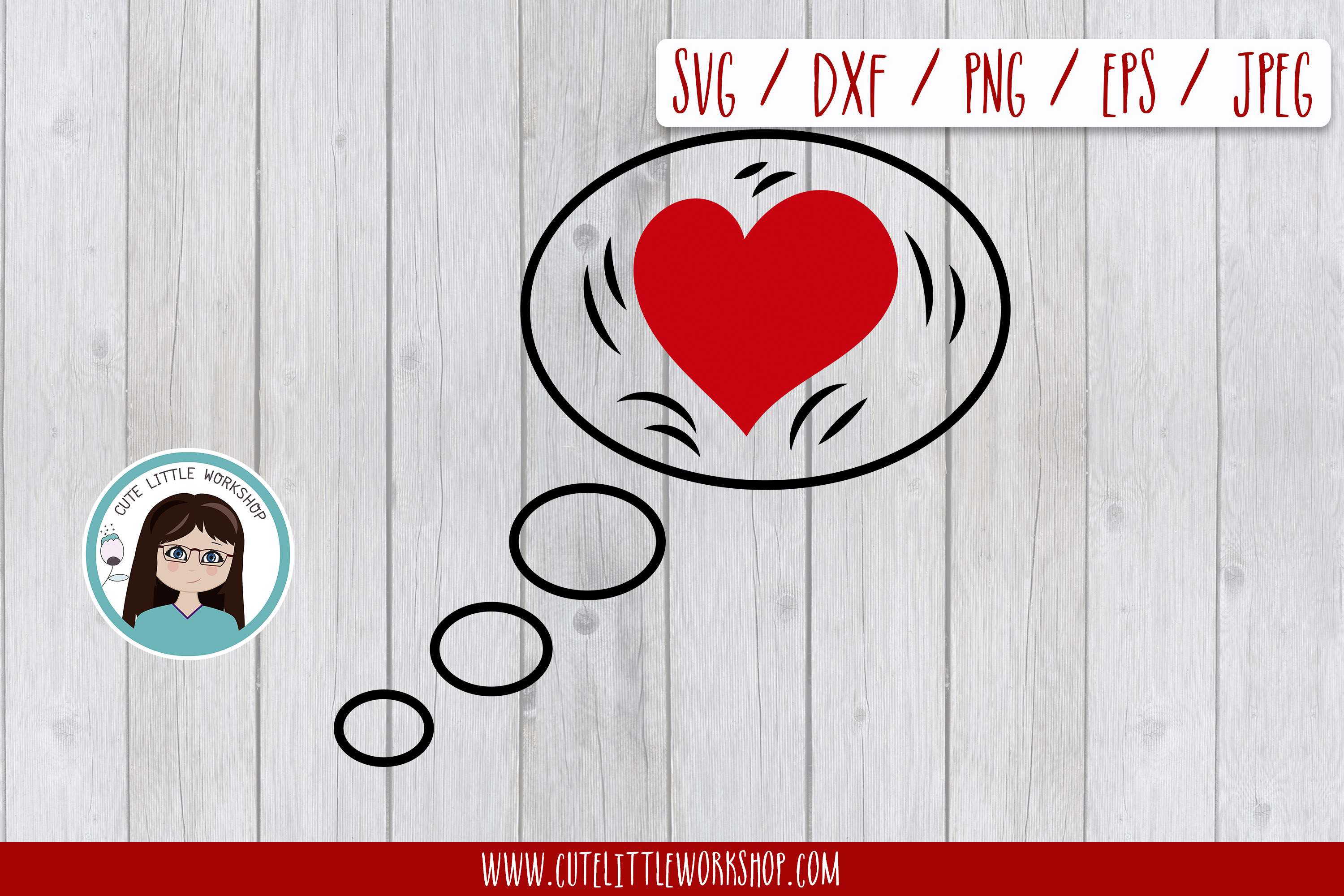 Love bubble svg, dxf, png, eps example image 1