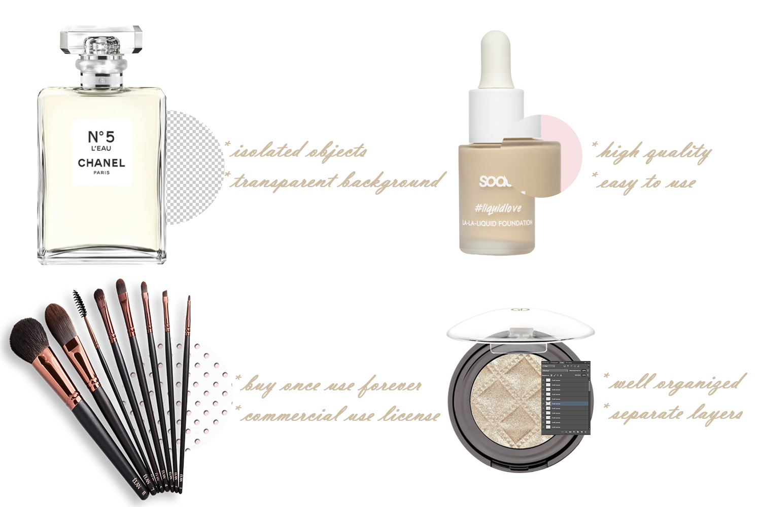 Beauty mockup elements and backgrounds example image 7