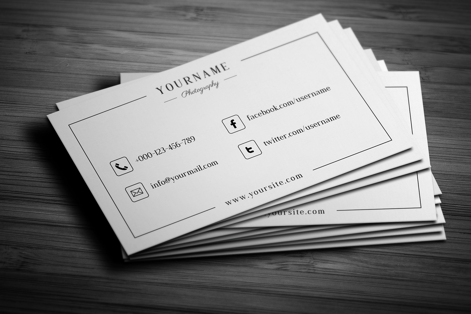 Minimal Wedding Photography Business Card  example image 3