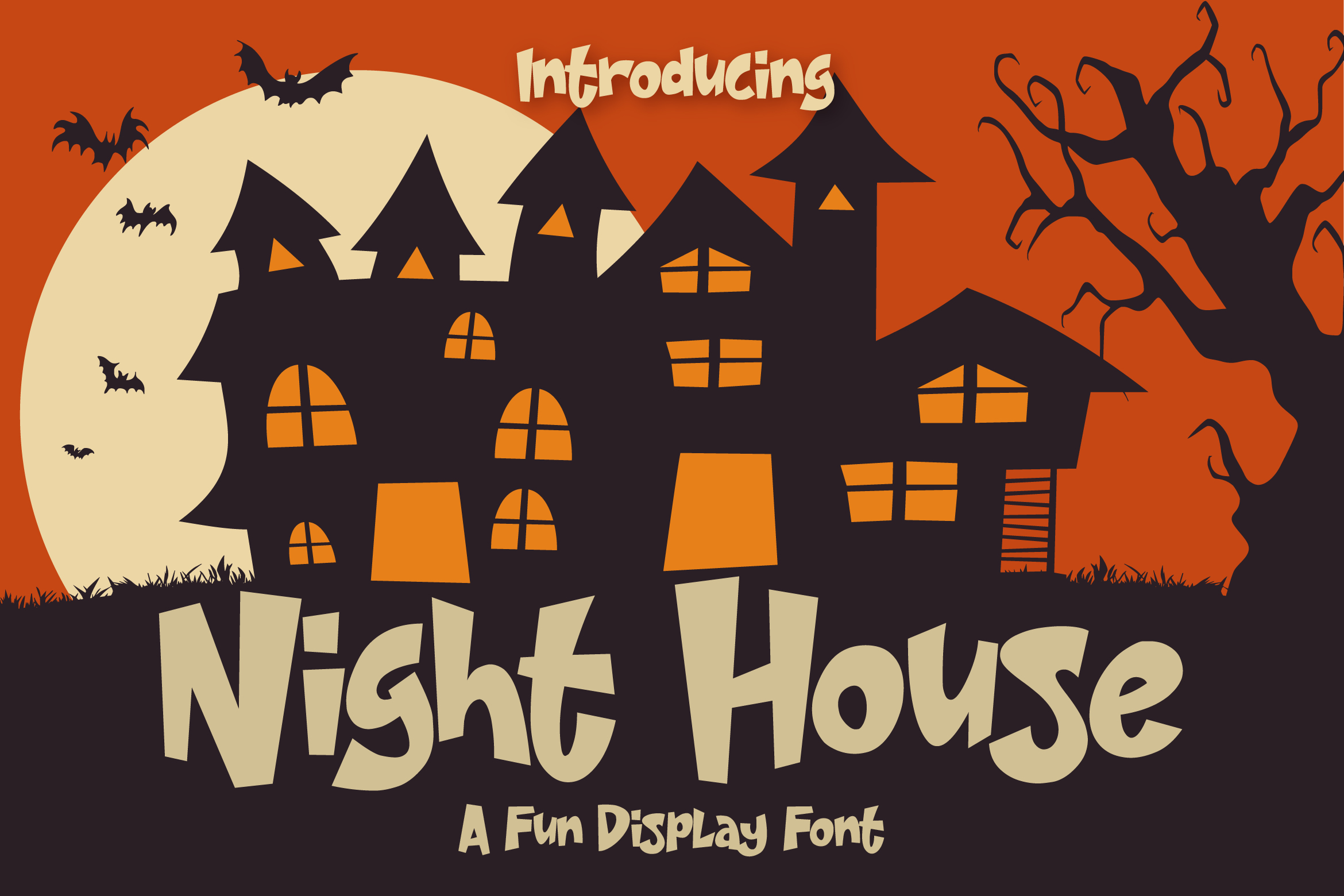 Night House - A Fun Display Font example image 1
