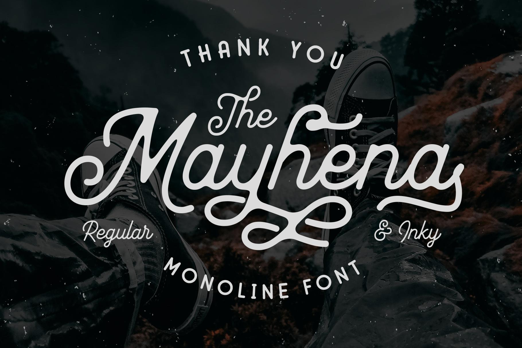 Mayhena Monoline Font example image 12