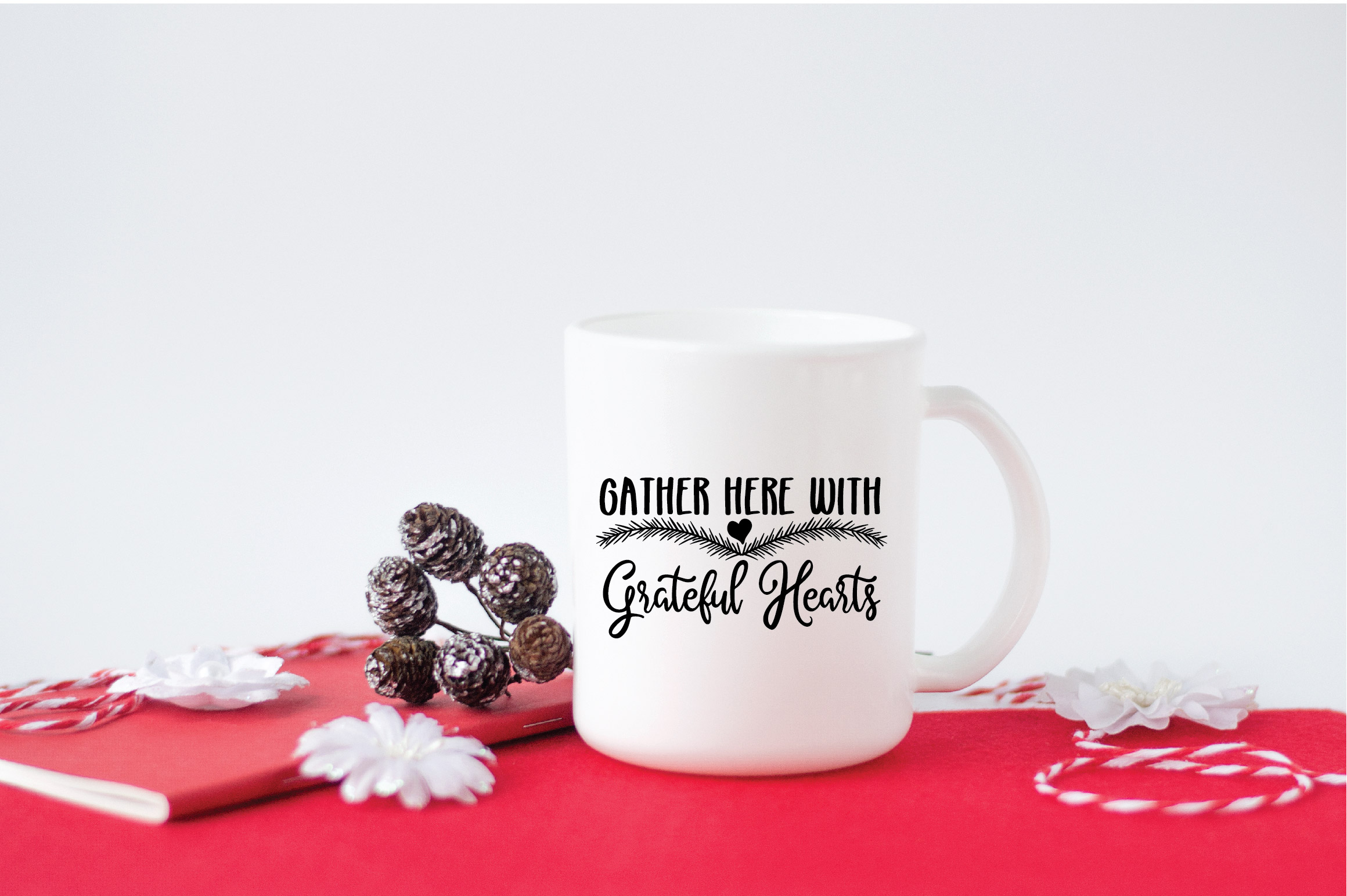 Christmas SVG Cut File -Gather Here with Grateful Hearts SVG example image 5