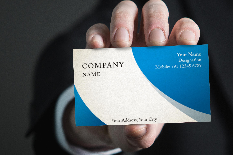 Photorealistic business card mockup set example image 1